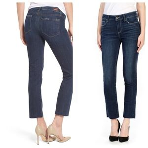 "PAIGE |"" Miki' Raw Edge Ankle Jeans Landyn Wash"